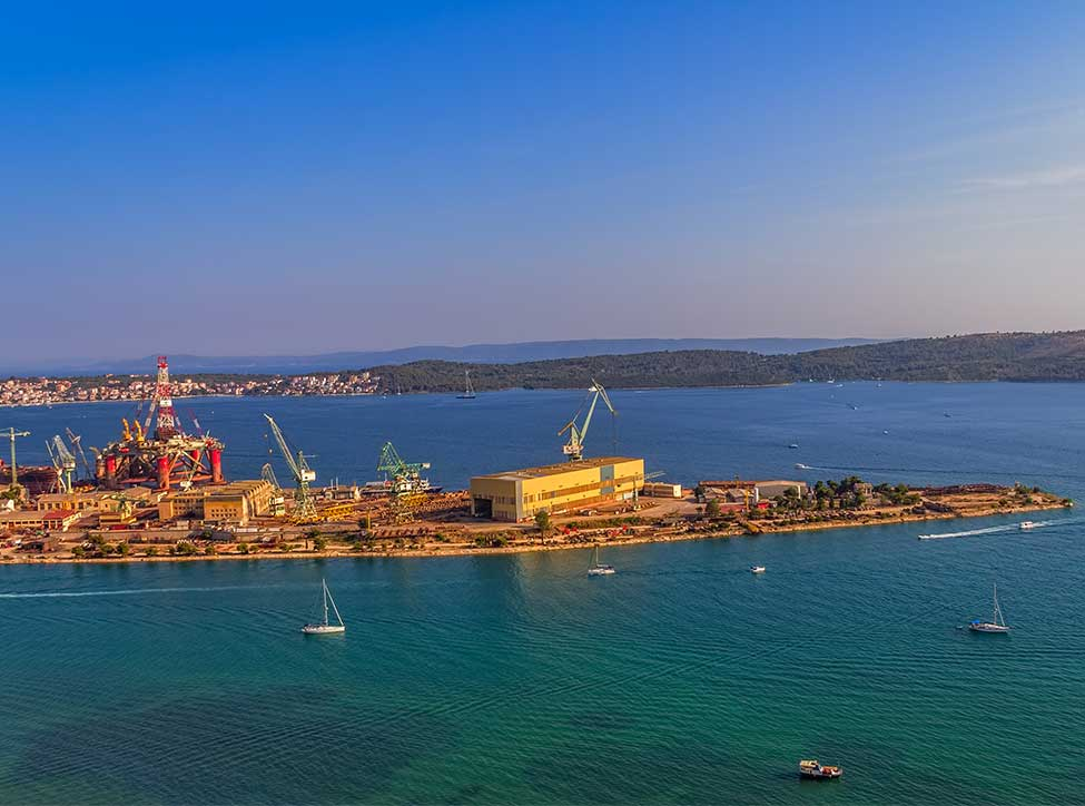Croatia, Brodotrogir shipyard, Trogir, supply of spare parts for shipbuilding solution.