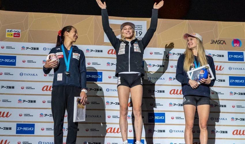 Janja Garnbret wins third gold medal in Japan